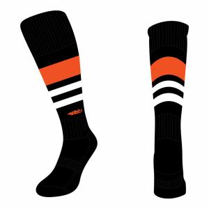 Wildcard Socks - Black, Orange & White