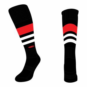 Wildcard Socks - Black, Red & White