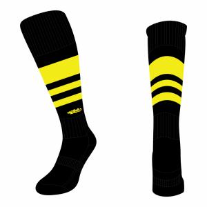Wildcard Socks - Black & Yellow