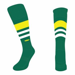 Wildcard Socks - Bottle Green, Yellow & White