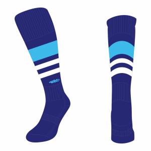 Wildcard Socks - Navy Blue, Sky Blue & White