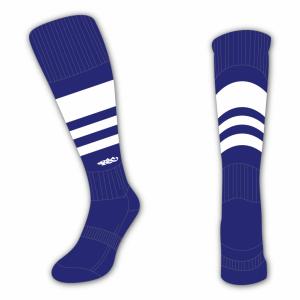 Wildcard Socks - Navy Blue & White