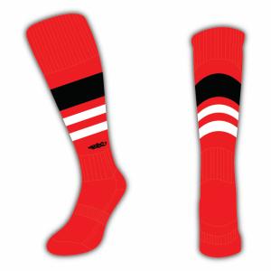 Wildcard Socks - Red, Black & White