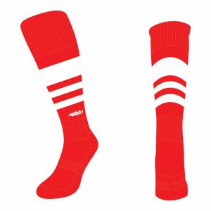 Wildcard Socks - Red & White