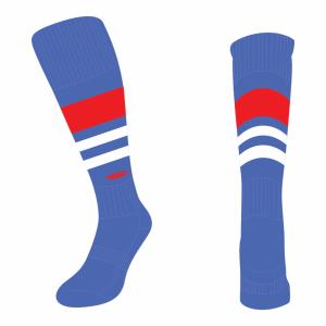 Wildcard Socks - Royal Blue, Red & White
