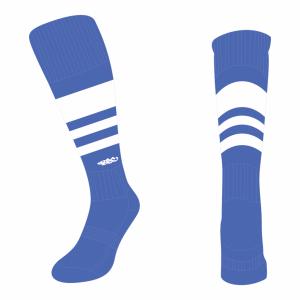 Wildcard Socks - Royal Blue & White