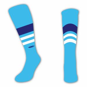 Wildcard Socks - Sky Blue, Navy Blue & White