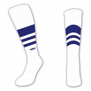 Wildcard Socks - White & Navy Blue