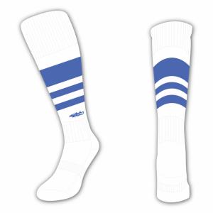 Wildcard Socks - White & Royal Blue
