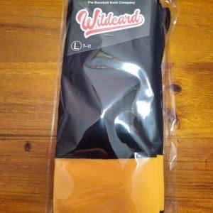 Wildcard Sock - Black, Light Orange & White