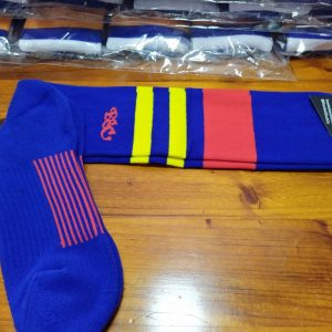 Wildcard Sock - Royal Blue, Red & Yellow