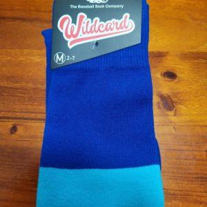 Wildcard Sock - Royal Blue, Sky Blue & White