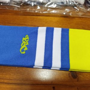 Wildcard Sock - Pale Blue, Yellow & White
