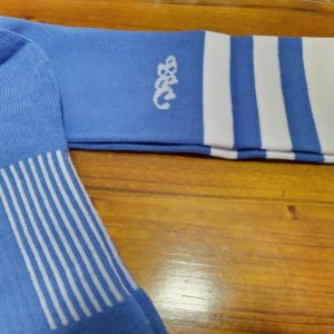 Wildcard Sock - Pale Blue & White