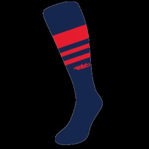 Wildcard PRO Socks – Navy & Red (PRE-ORDER)