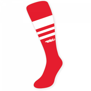 Wildcard PRO Socks – Red & White (PRE-ORDER)
